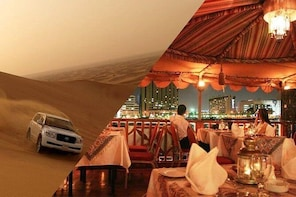 Dubai Red Dunes Desert Safari & Creek Cruise Dinner