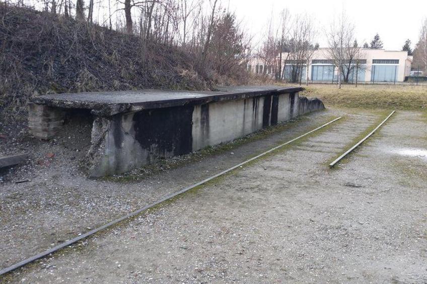 Railway line at Dachau Concentration Camp
