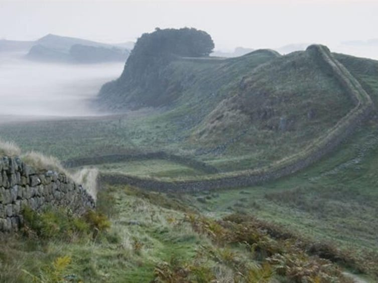Hadrian's Wall in the mist