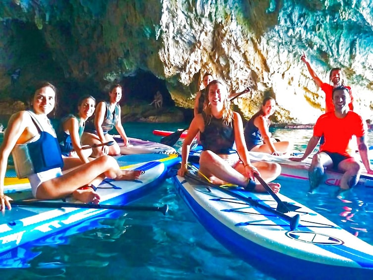 Show item 1 of 5. Paddle Surf and Snorkel in the Sea Lion Cave