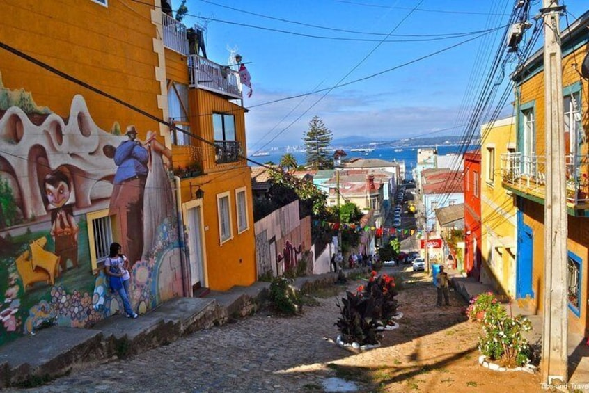 Santiago: Full day tour to Valparaiso and Viña del Mar city