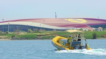 75 Minute Yas Island Sightseeing Boat Tour in Abu Dhabi