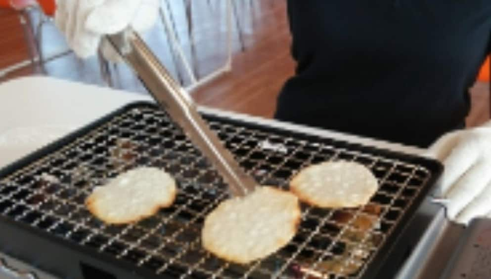 Show item 1 of 2. Experience handmade rice crackers at ORANDA Senbei Factory
