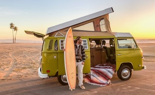 Malibu Beach Surf Tour in a Vintage VW Van
