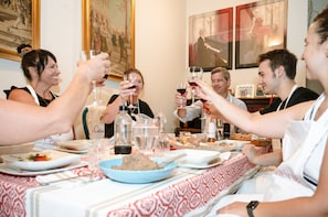 Dining experience at a local's home in Pienza