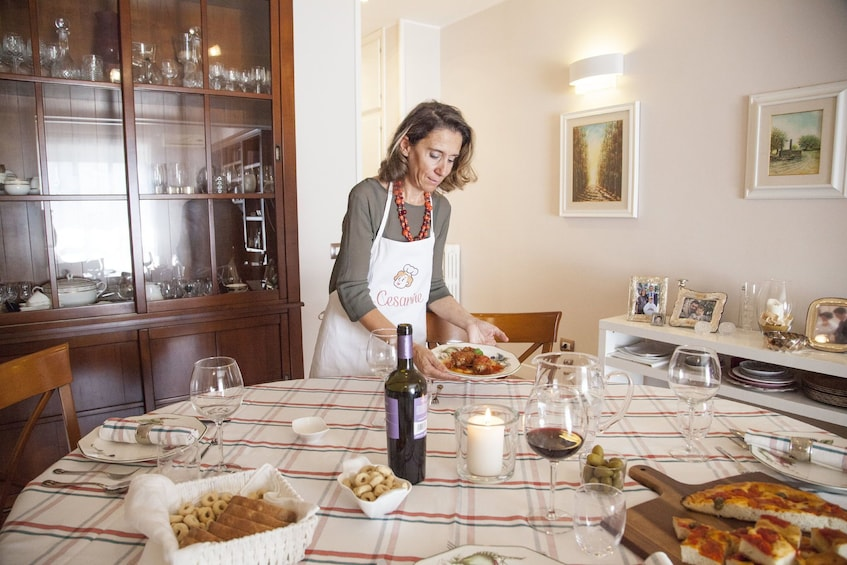 Show item 3 of 7. Dining experience at a Cesarina's home in Manfredonia