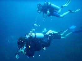 Never dived before. Try Diving with an instructor.
