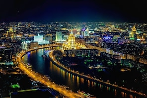 Moscow sightseeing night guided tour
