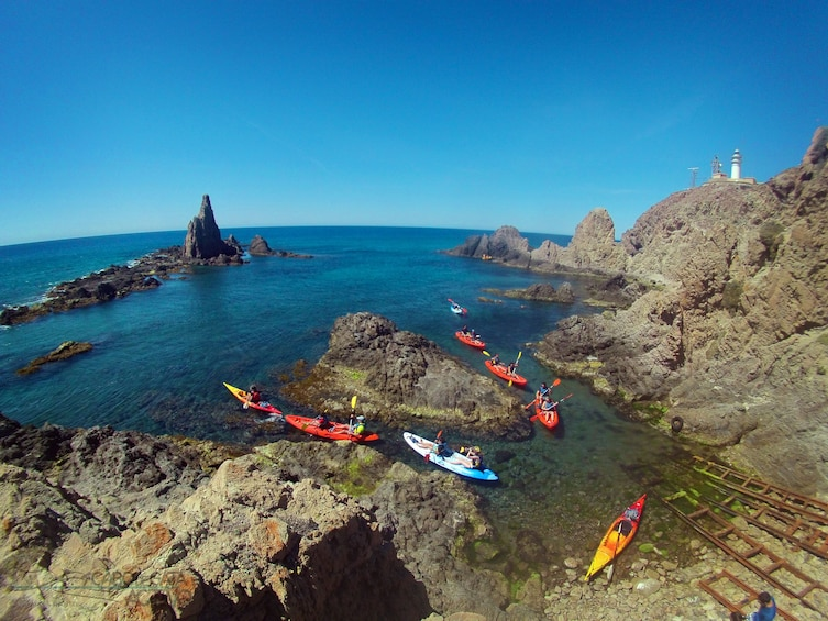 Show item 1 of 10. Kayak and snorkel guided tours by Cabo de Gata coves