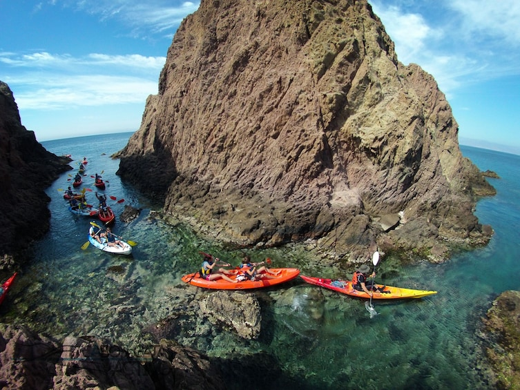 Show item 3 of 10. Kayak and snorkel guided tours by Cabo de Gata coves