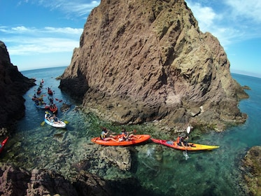 Kayak and snorkel guided tours by Cabo de Gata coves
