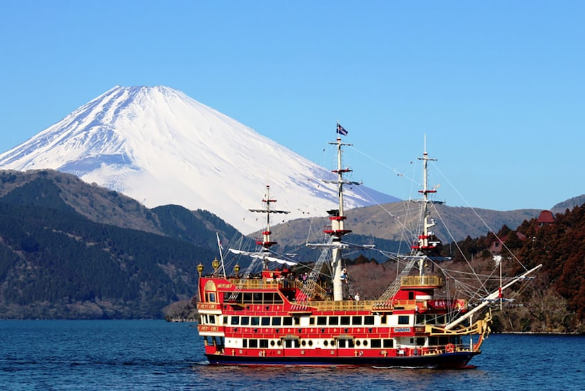 Show item 1 of 5. Hakone Fuji Day Tour: Cruise, Cable Car, and Volcano