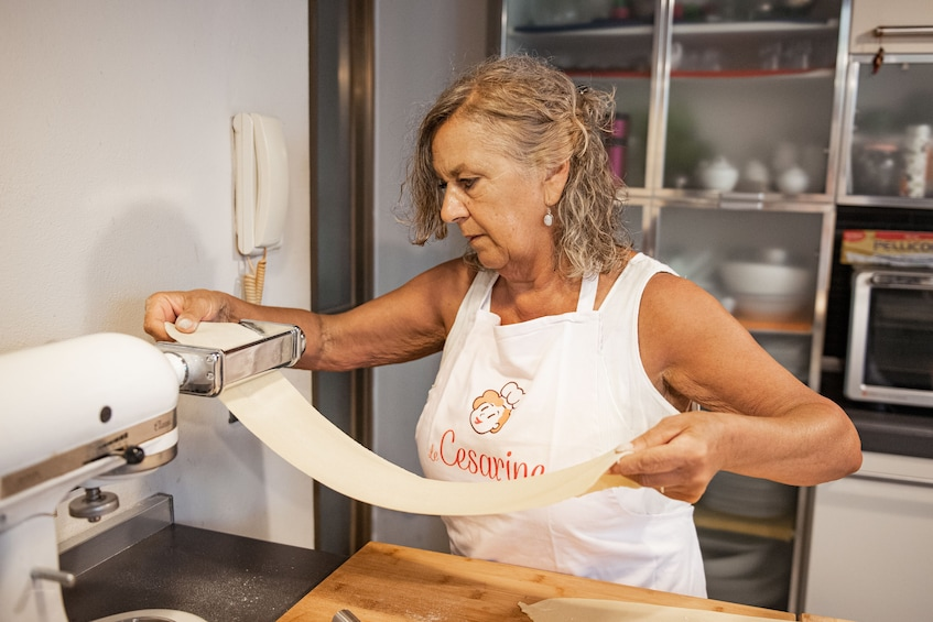Show item 1 of 5. Pasta-making class in Lake Maggiore at a Cesarina's+Tasting