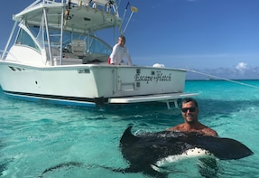 Private Charter 32ft Express. Stingrays-Snorkeling-Starfish