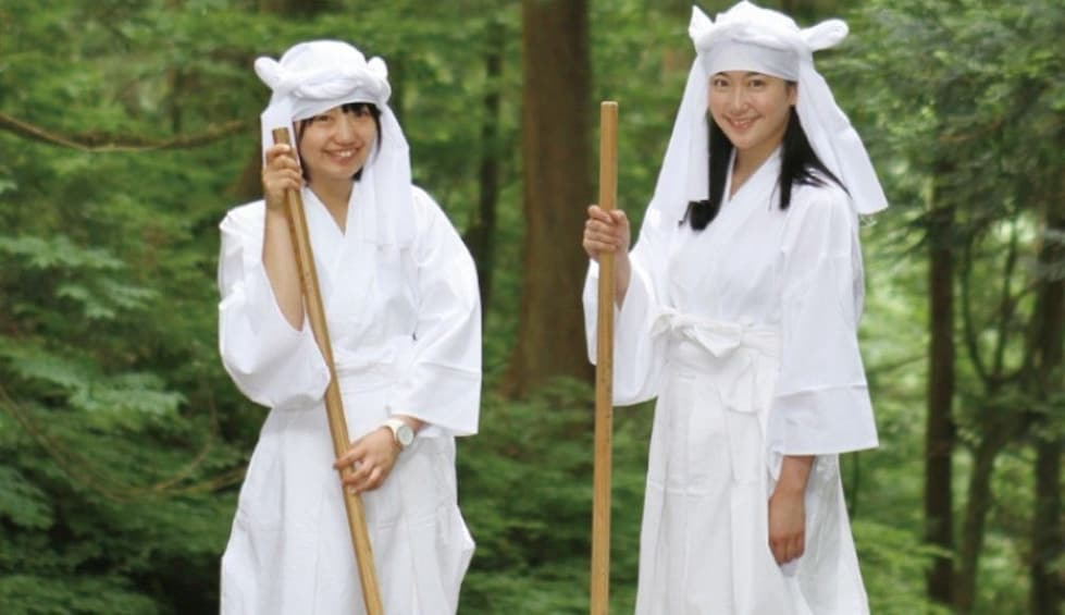Show item 1 of 3. White outfit one day rental plan at Mt.Haguro