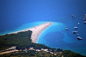 All Around Brac Island + Bol, Golden Horn Beach from Split