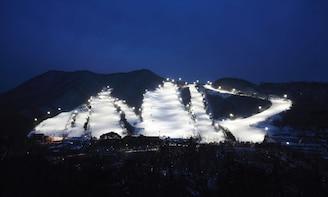 Jisan Ski Resort Night Time Skiing & Everland Day Tour