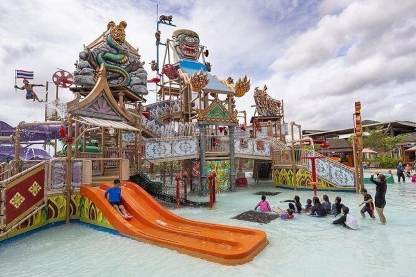Show item 5 of 11. Ramayana Water Park at Pattaya Admission Ticket