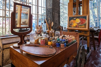 Inside the Frida Kahlo Museum, also known as the ?Blue House?