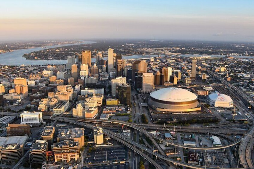 New Orleans Central Business District and Superdome