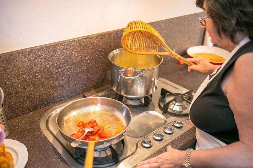 Market, Cook & Dine at a Cesarina's home in Bergamo