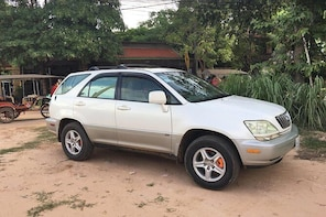 Private taxi transfer from Kratie town to Siem Reap city