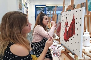 Art and Wine: Paint and Sip in Barcelona