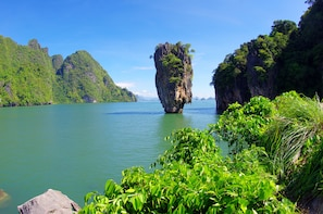 From Khao Lak: James Bond with Big Boat, Canoeing & Swimming