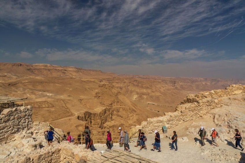 Show item 2 of 9. Masada, Ein Gedi and Dead Sea Tour From Tel Aviv