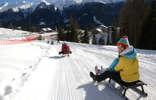 The most famous sledge slope in the Dolomites