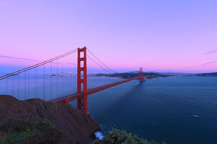 Show item 3 of 3. Bay Area Sunset Flight