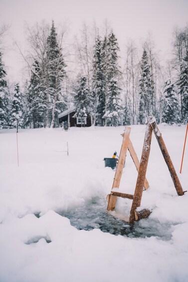 Show item 4 of 5. Astonishing IceFishing + Sauna experience