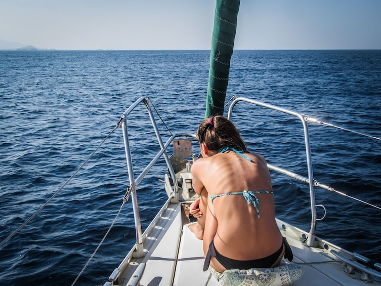Show item 9 of 9. Honeymoon private sailing tour with fresh fish & Champagne