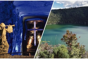 Salt Cathedral of Zipaquirá and Guatavita Lake from Bogotá