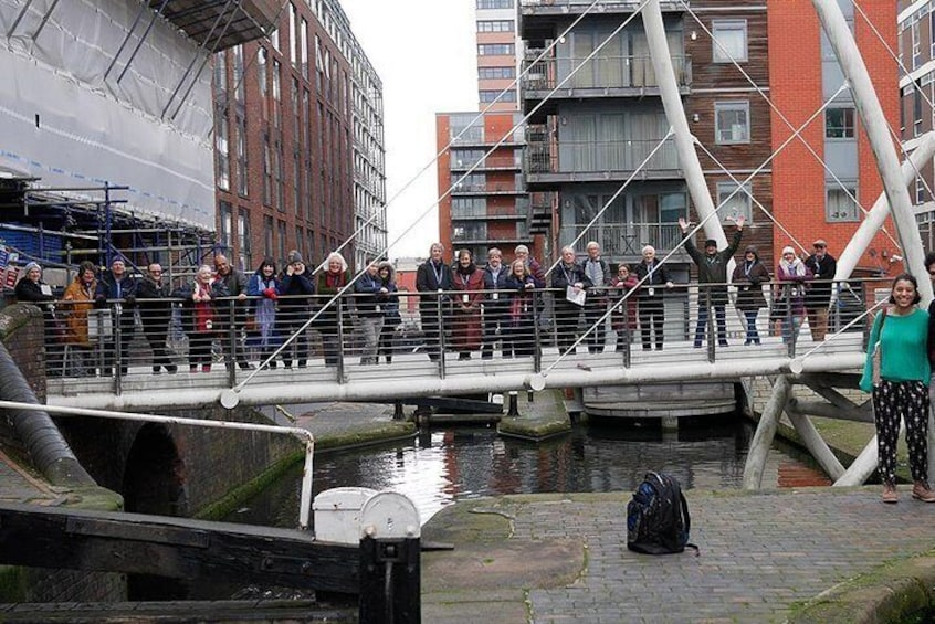 Islington Place footbridge is a great stopping point on our canal walk to the Jewellery Quarter.