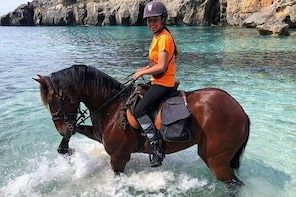 Horseback Riding in Cala Fustam, Menorca, Spain